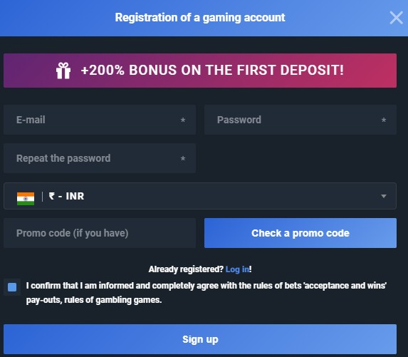 registration account 4Ra Bet